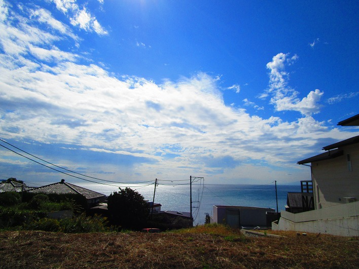 水平線たっぷり。現地にいくと写真よりもっともっと海見えます。