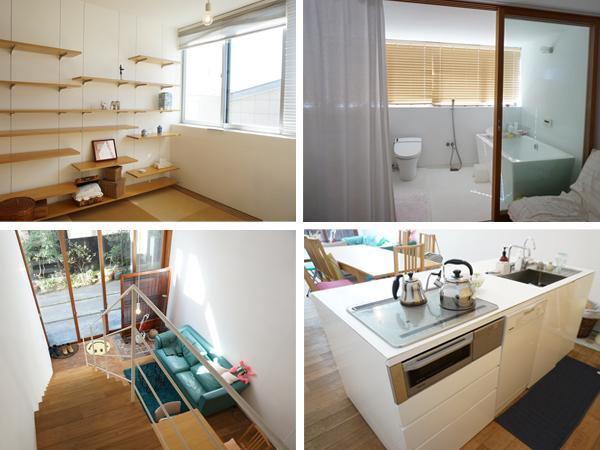 ホテルのようなバスルーム!キッチンは1階と3階の両方にあり