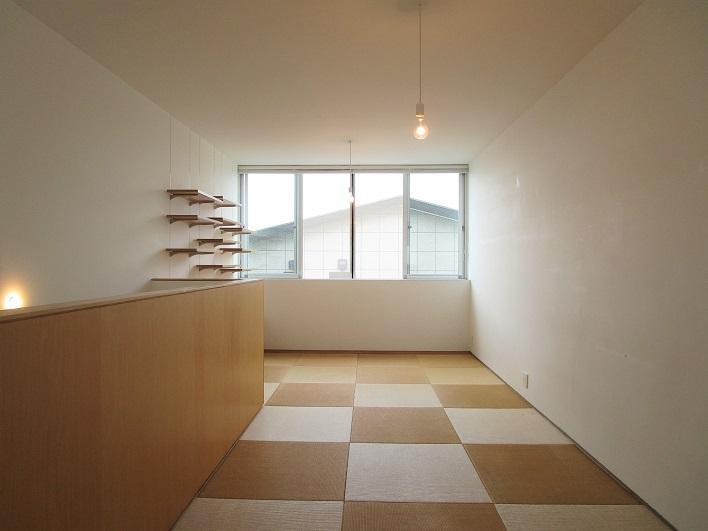 3階は琉球畳の和室、和室なのにスタイリッシュ!