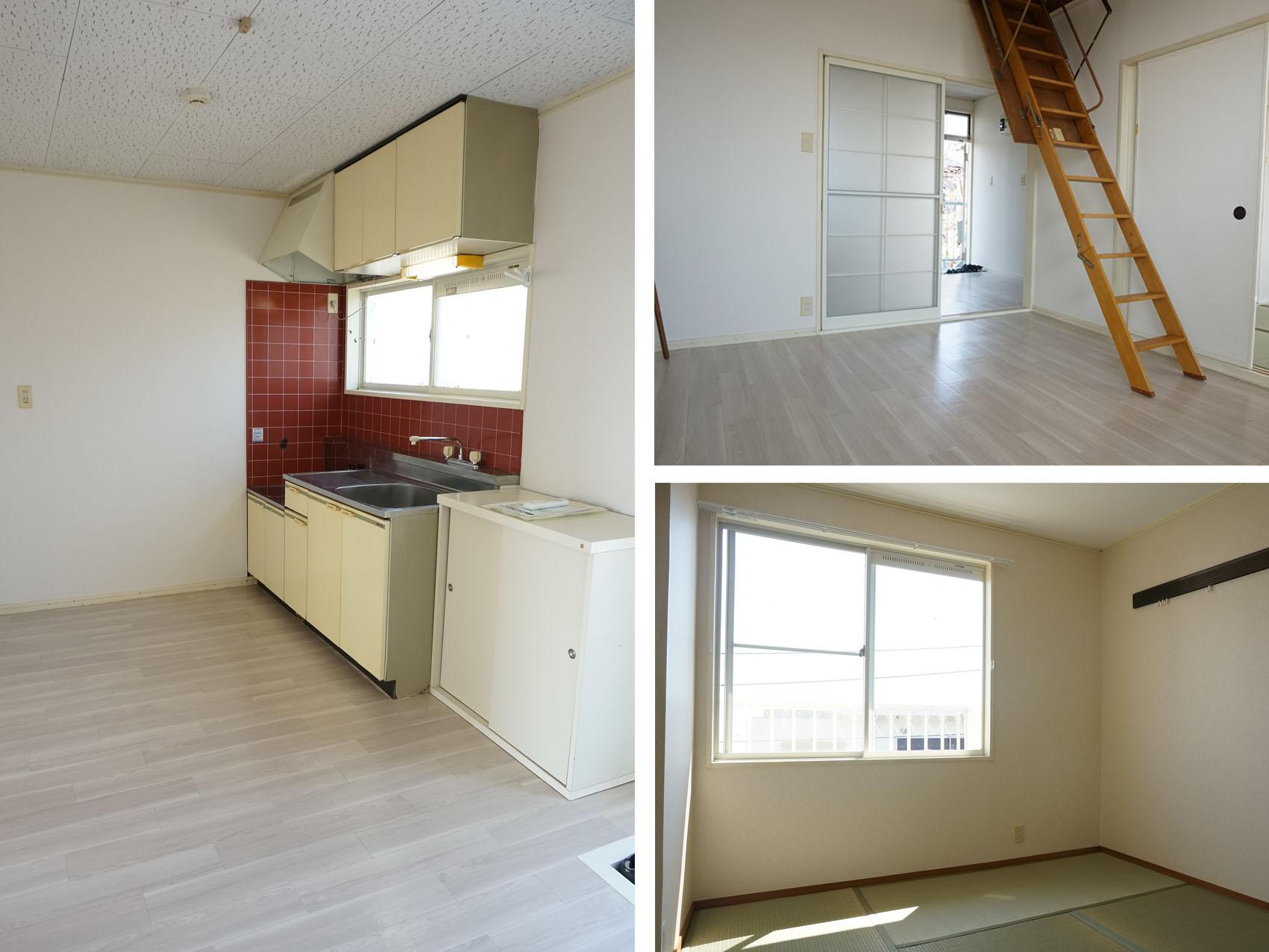 キッチン広めで、お部屋も広々!