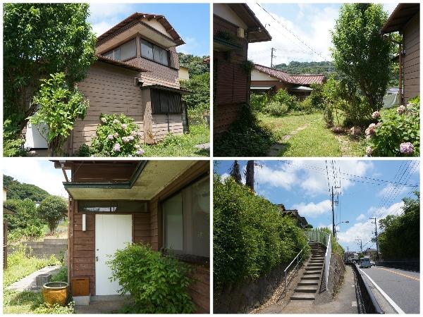 全体感と、4枚目の写真は家まで上る階段。すぐ大きな道路です。コンビニも近くて便利な場所です!