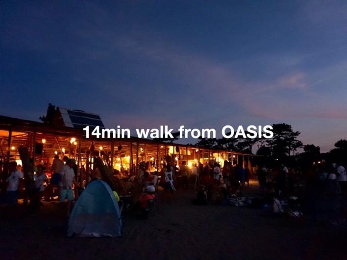 OASIS(森戸海岸)まで歩いて14分。近いなぁ。長柄っていうより堀内な感覚です。