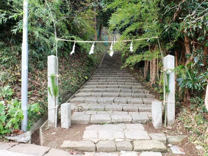 地域の氏神稲荷神社。祭事はこちらで行われます。眺望のよい場所です。