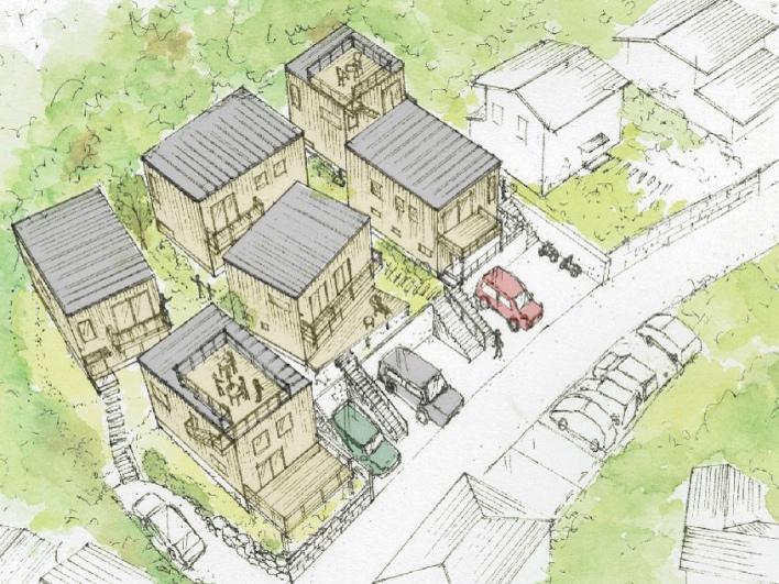 葉山長柄の緑に囲まれた場所にこんなヴィレッジが誕生します!
