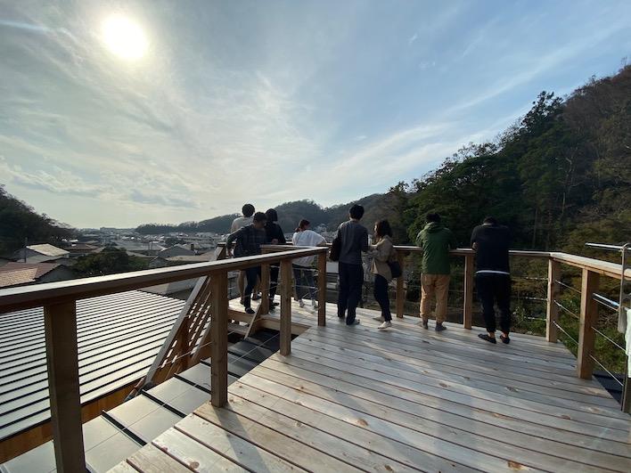 すでに入居しているN邸(A区画のお隣さま)の屋上から撮影!A区画の眺望もイメージできます。ナイスビュー!