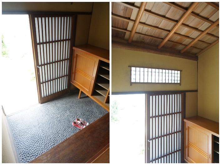 玉砂利が可愛らしい玄関。広い!天井が高い!