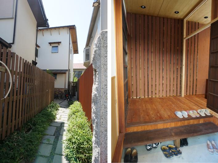隠れ家感のある建物入口/広々とした玄関(2階と共用)
