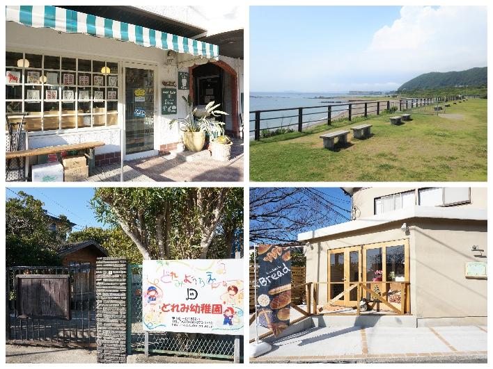 TANTO TEMPOまで自転車で14分、葉山公園まで徒歩14分、ドレミ幼稚園と新しいパン屋はマンション目の前。