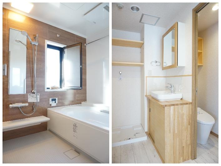 浴室広いです(浴槽1600mm×2400mm 天井高2200mm)