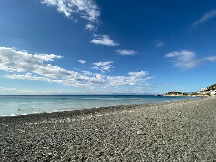 秋谷海岸。きれいだ~!なんといっても、穏やか。