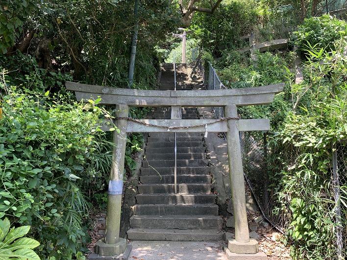 すぐ裏手にある海や富士山が一望できる淡島神社
