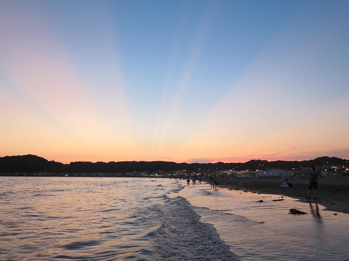 毎日サンセットを見に行きたい、由比ガ浜