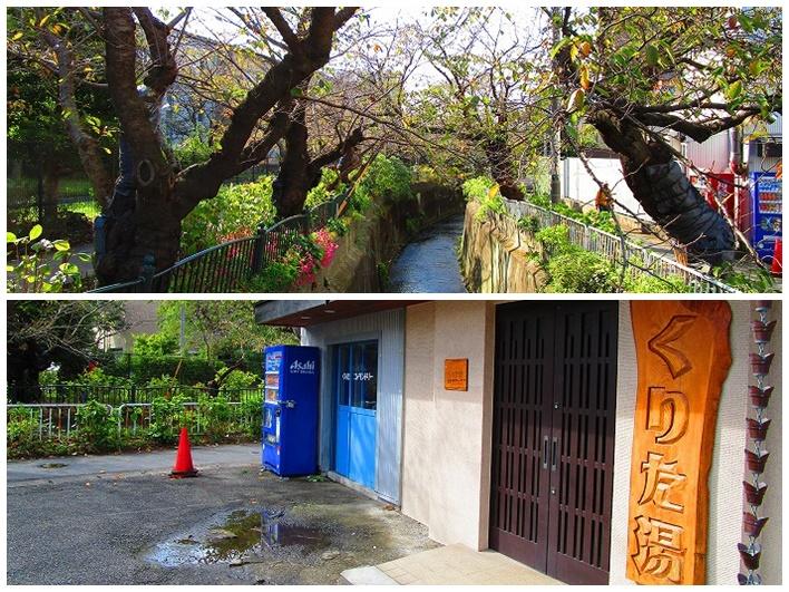 ご近所の銭湯。大船駅に向かうには、こちらの脇の桜並木を通ります。