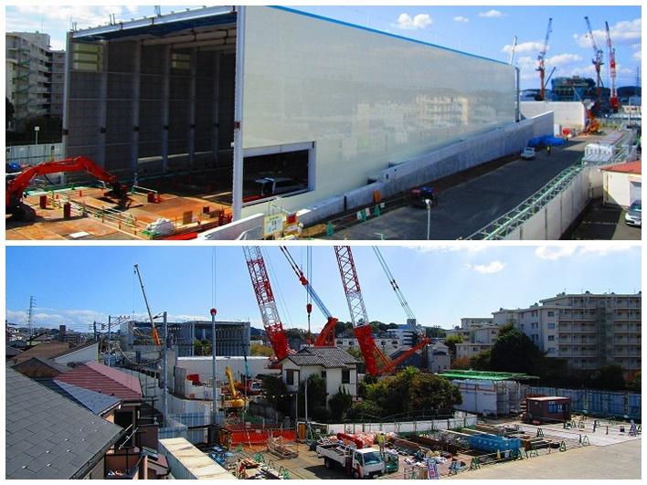 絶賛建築中の横浜環状南線。便利になりますね。