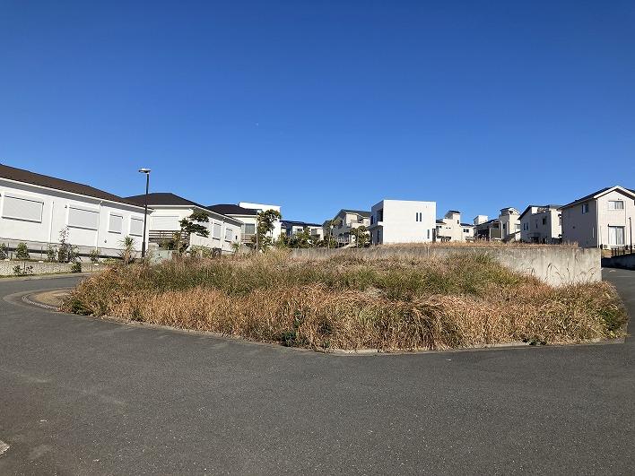 角地でこの解放感。どんな家を建てようかなー。