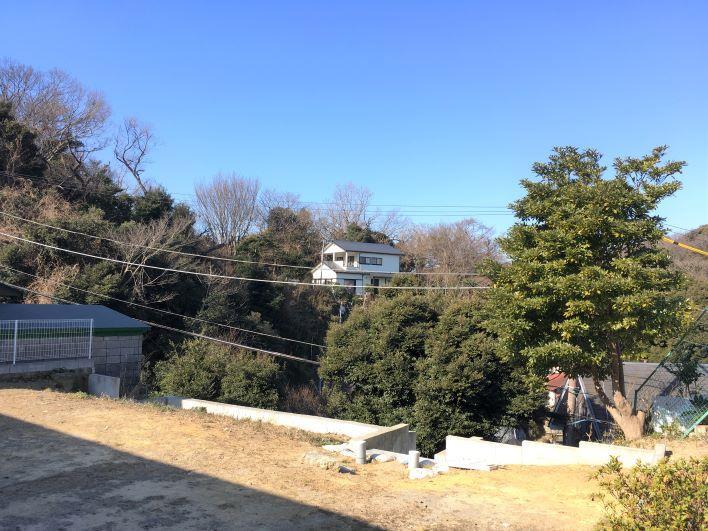 空と緑しか見えない煌きの世界。ここに小さい平屋を建てたい。