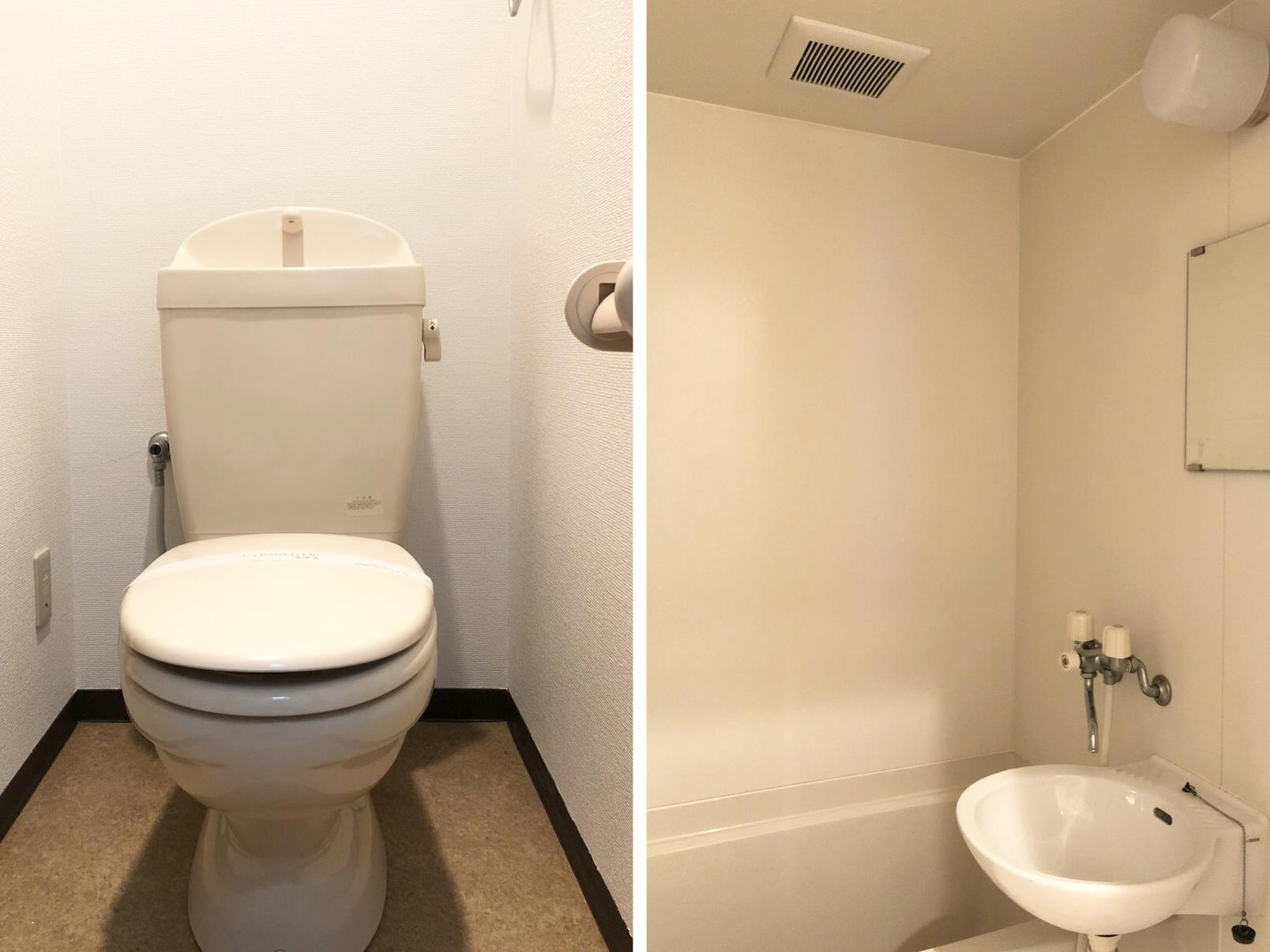バストイレ別でゆったりと