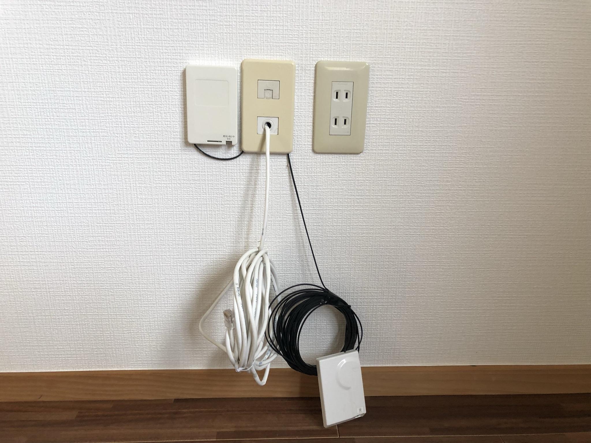 ネット回線も完備~!事務所には必需品
