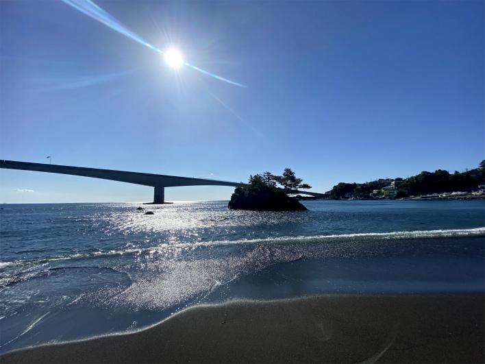 真鶴ブルーラインの岩大橋。カッコいいなー!