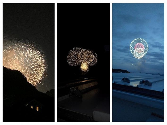 ルーフバルコニーからは逗子と鎌倉の花火を見ることができます。