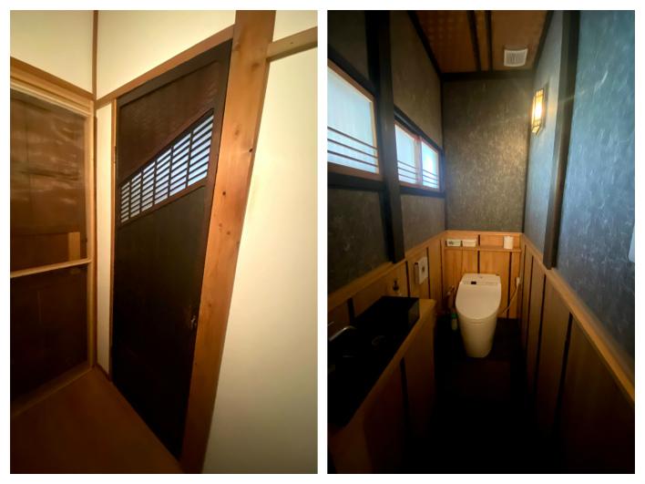 トイレの建具もカッコいいったらもう。