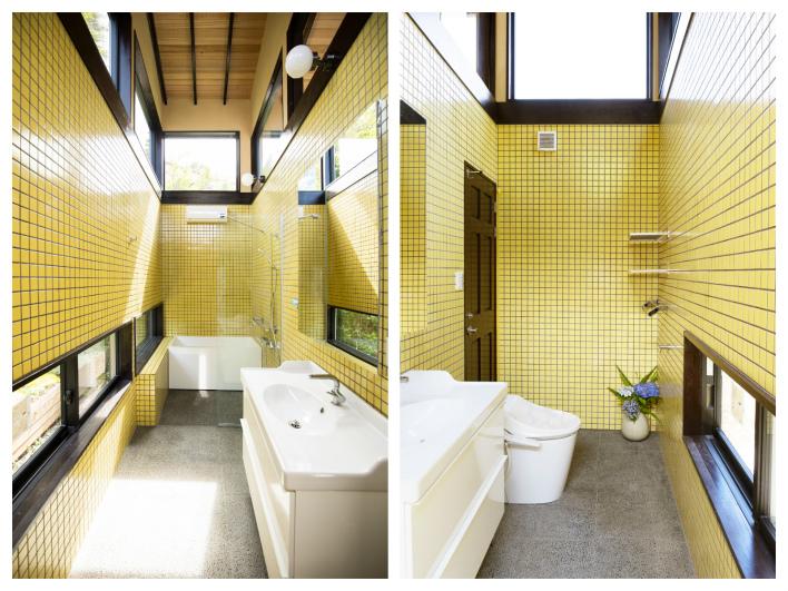 キュートすぎるバスルーム&トイレ!可愛いだけじゃないんです。なんと床暖房と浴室乾燥機付き。