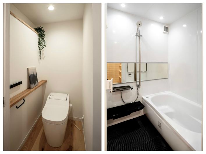 トイレとお風呂。シンプルでgood!