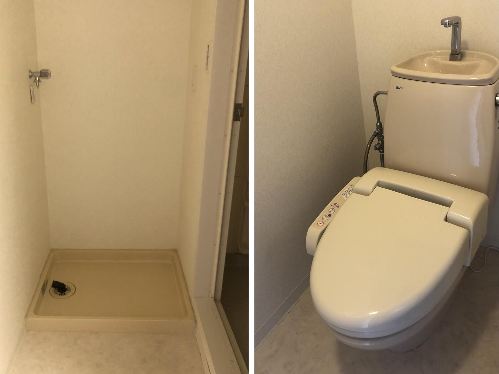 お風呂場横の洗濯機置き場嬉しいポイント