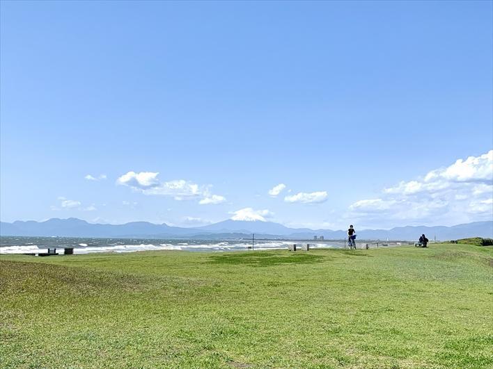 公園からも富士山!美しい…