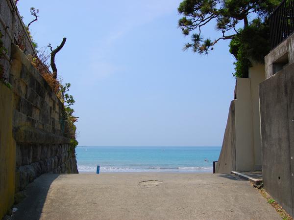 海までの道もこんな風景
